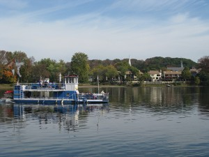 Paddleboat on the Delaware River in New Hope, Pennsylvania